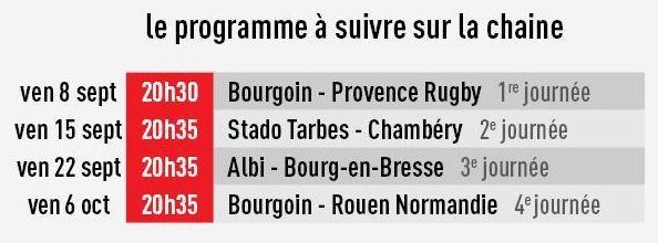 [Infos TV] Rugby - Reprise de la Fédérale 1 chaque vendredi sur la chaîne l'Equipe !