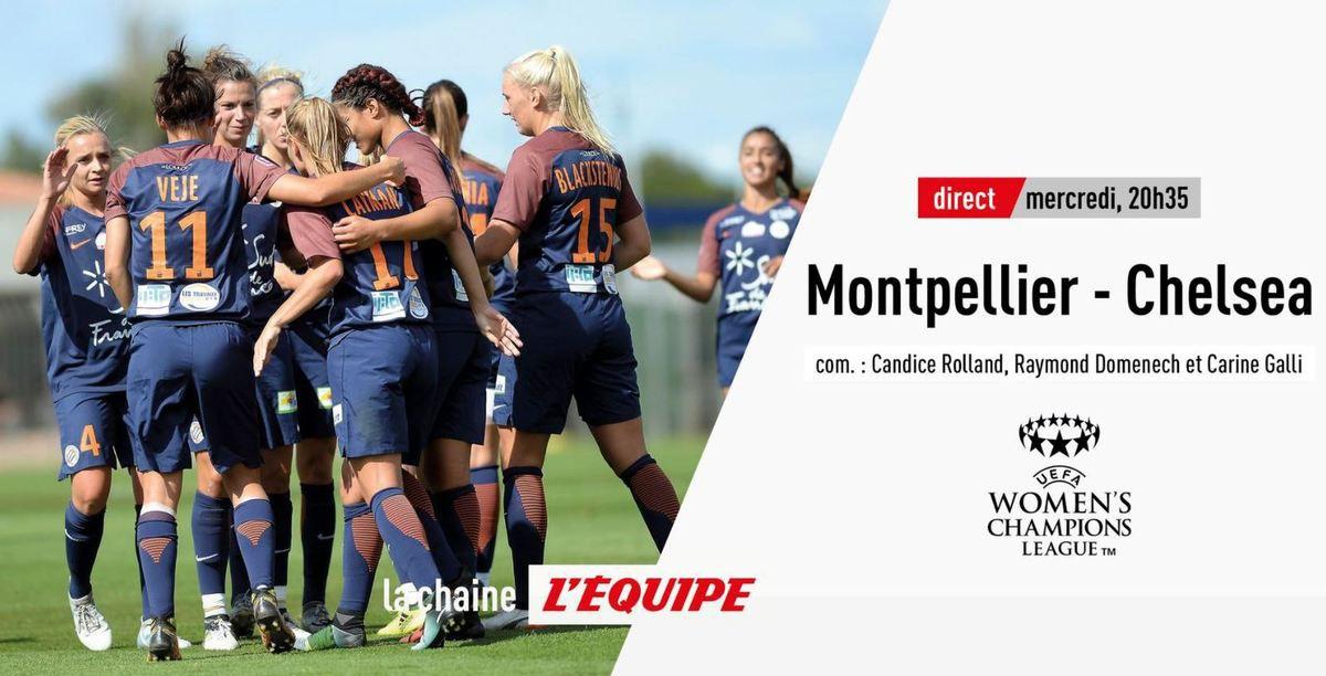 [Infos TV] Foot Féminin - Montpellier / Chelsea à suivre ce mercredi sur la chaîne L'Équipe !