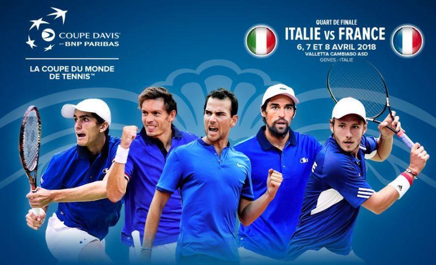 [Infos TV] Coupe Davis - France / Italie à suivre ce week-end sur France 4 et beIN SPORTS !