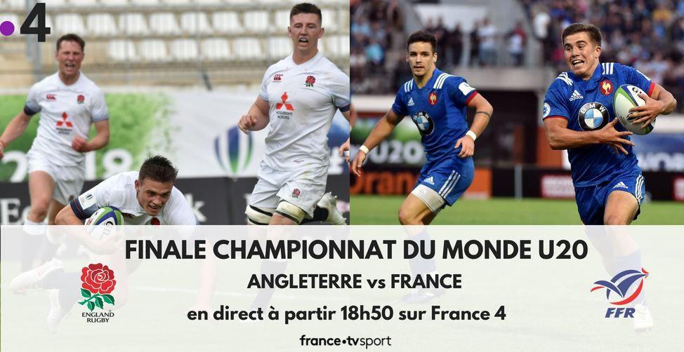 [Infos TV] Rugby - Finale U20 France / Angleterre ce dimanche en direct à 18h50 sur France4 !