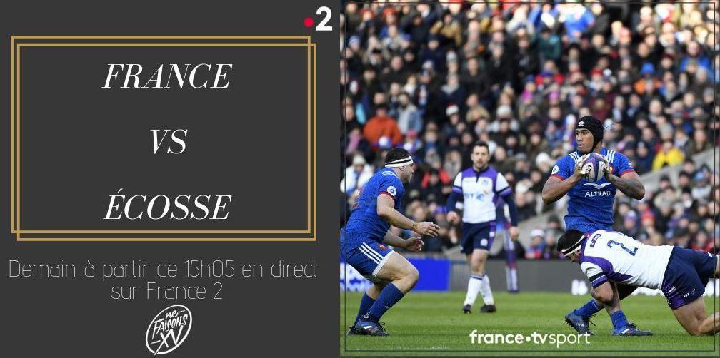 [Rugby] Tournoi des VI Nations - France / Ecosse en direct à 15h05 sur France 2 !