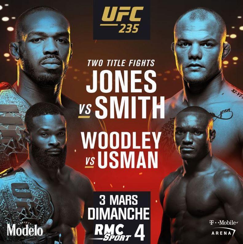 [MMA] UFC 235 - Jones vs. Smith et Woodley vs. Usman en direct sur RMC Sport 4 !