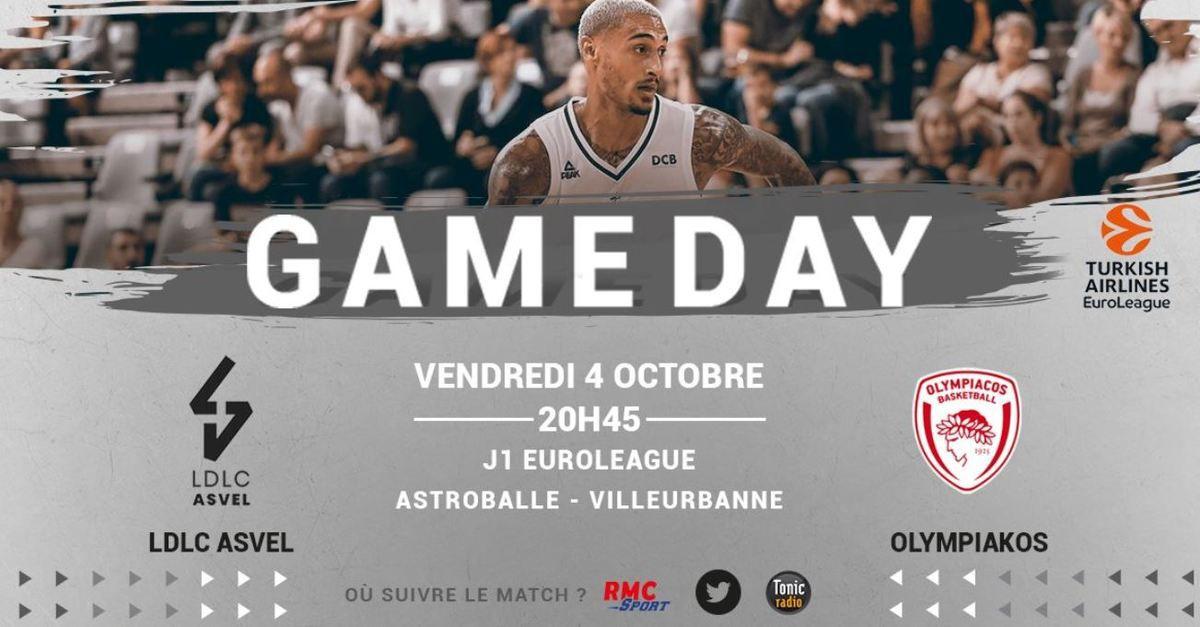 [Basket] Euroleague : ASVEL Lyon-Villeurbanne / Olympiacos ce vendredi sur RMC Sport 2 !