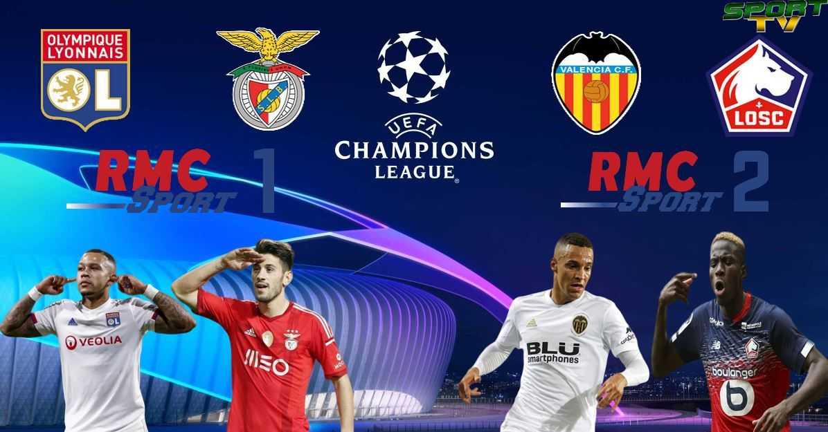 [Foot] Lyon / Benfica et Valence / Lille  (Champions League) ce mardi sur RMC Sport !