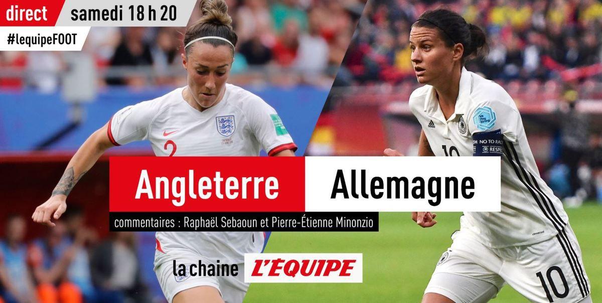 [Foot] le choc Angleterre-Allemagne en clair et en direct ce samedi sur la chaîne L'Équipe !