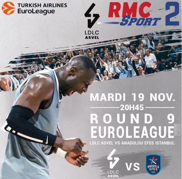 [Basket] Lyon Villeurbanne / Anadolu Efes Istanbul (Euroleague) ce mardi sur RMC Sport 2 !