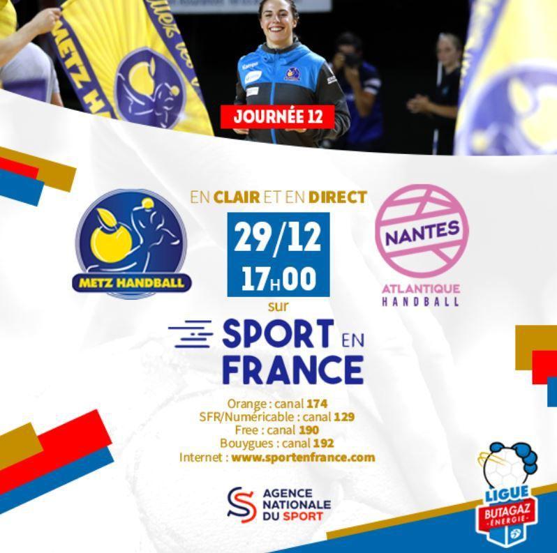 [Hand] Ligue Féminine : Metz / Nantes ce dimanche sur la chaîne Sport en France !