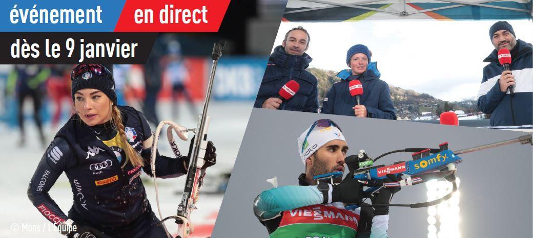 [Biathlon] le biathlon de retour en direct sur la chaîne l'Equipe !