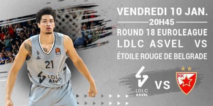 [Basket] Lyon-Villeurbanne / Etoile Rouge Belgrade (Euroleague) ce vendredi sur RMC Sport 2 !