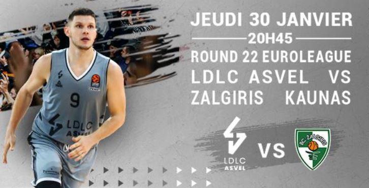 [Basket] ASVEL Lyon-Villeurbanne / Zalgiris Kaunas (Euroleague) ce jeudi sur RMC Sport 2 !