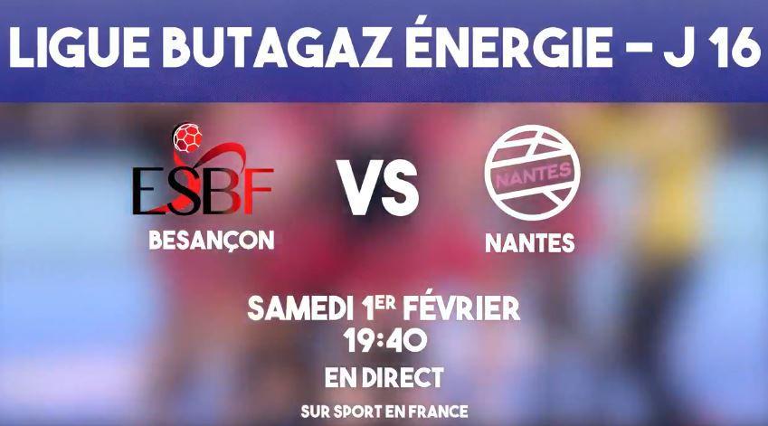 [Hand] Besançon / Nantes (Ligue Féminine) ce samedi sur la chaîne Sport en France !