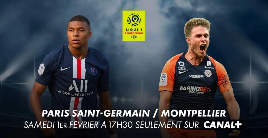 [Foot] Paris SG / Montpellier (Ligue 1)  ce samedi en direct sur Canal Plus !
