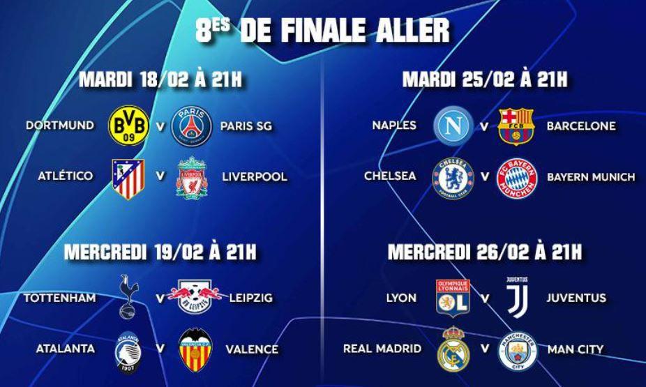 [Foot] Les 1/8èmes de Finale de la Champions League sur RMC Sport !