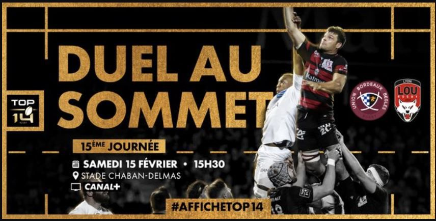 [Rugby] la 15ème Journée du Top 14 ce week-end sur les antennes de Canal Plus !