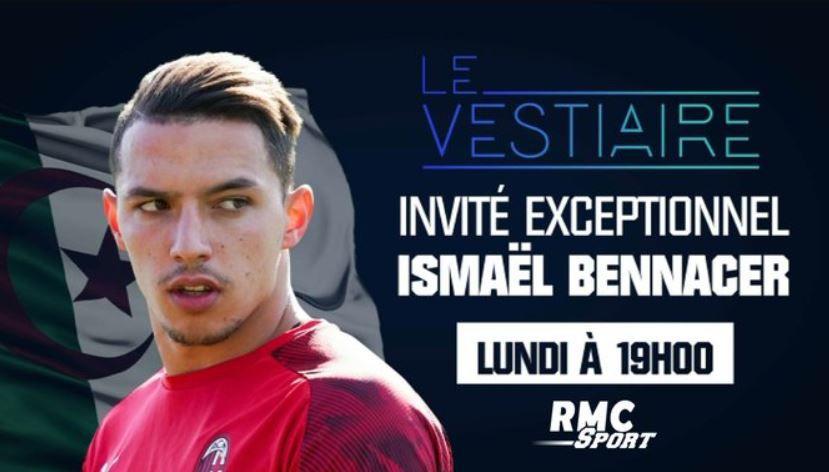 """[Foot] Ismaël Bennacer, invité du """"Vestiaire"""" ce lundi sur RMC Sport 1 !"""