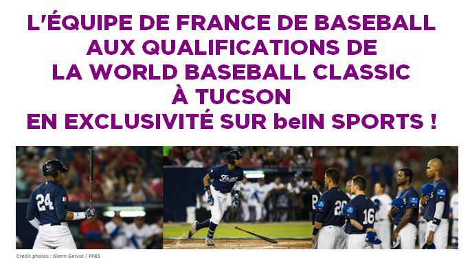 [Baseball] L'Equipe de France à suivre sur beIN SPORTS pour les qualifications de la World Baseball Classic !