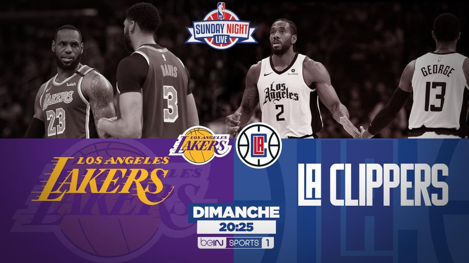 [NBA] Los Angeles Lakers @ Los Angeles Clippers ce dimache sur beIN SPORTS1 !
