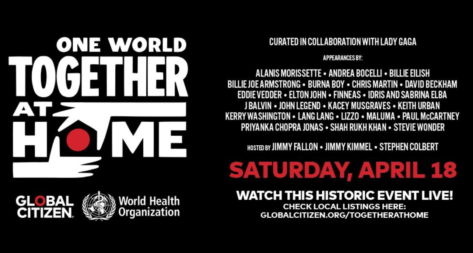 [Infos TV] Le concert-événement «ONE WORLD : TOGETHER AT HOME»  ce samedi sur beIN SPORTS et CStar !