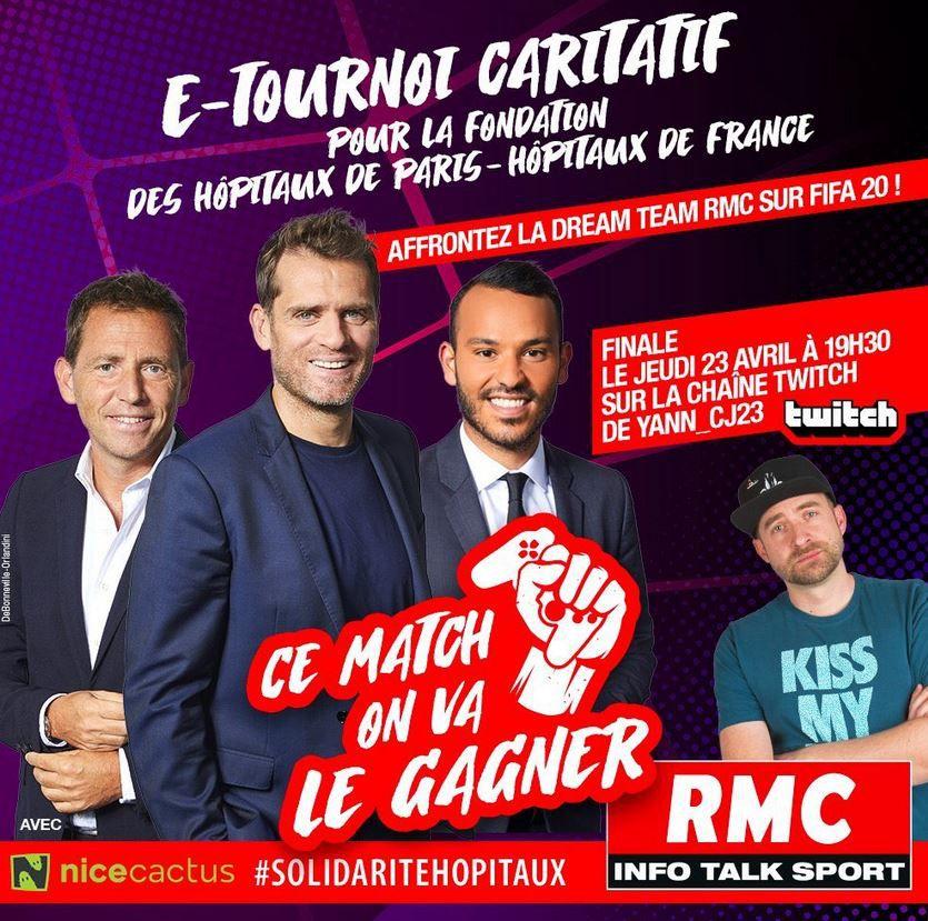 [E-Sport] Finale ce jeudi du tournoi E-Sport caritatif FIFA 2020 de RMC Sport !