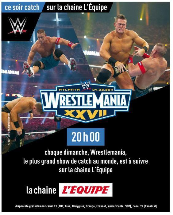 [Catch] Wrestlemania 27 ce dimanche à 20h00 sur la chaîne l'Equipe !