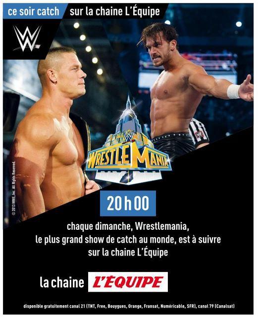 Wrestlemania 29 ce dimanche à 20h00 sur la chaîne l'Equipe !