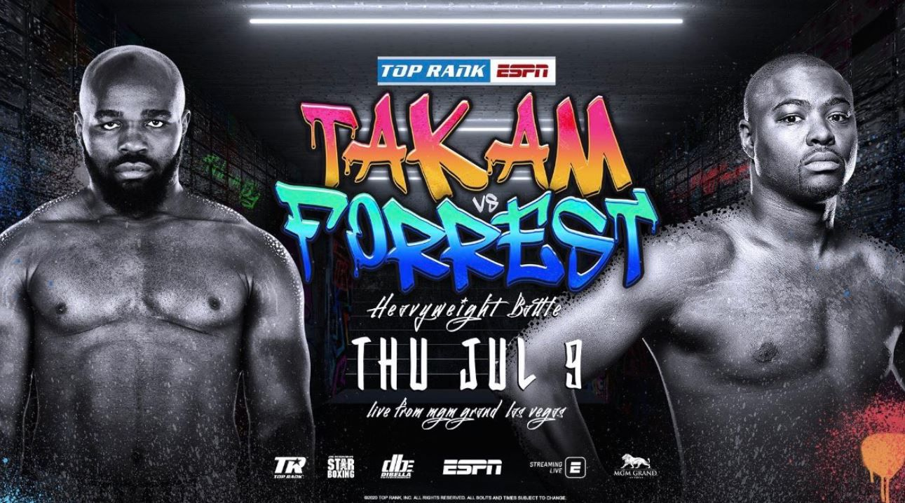 Carlos Takam vs. Jerry Forrest en direct dans la nuit du 09 au 10/07 sur bein SPORTS 1 !