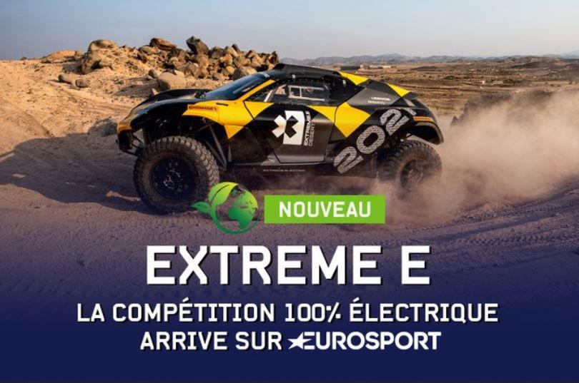 Eurosport diffuse la compétition d'Extreme E (SUV Electrique)