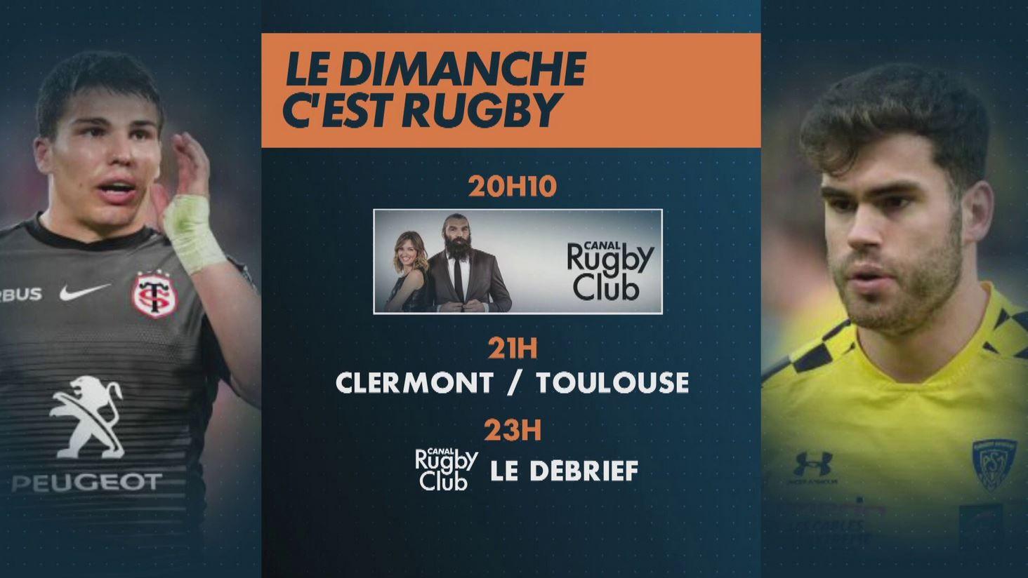 ASM Clermont / Stade Toulousain (Top 14) en direct ce dimanche sur canal Plus !