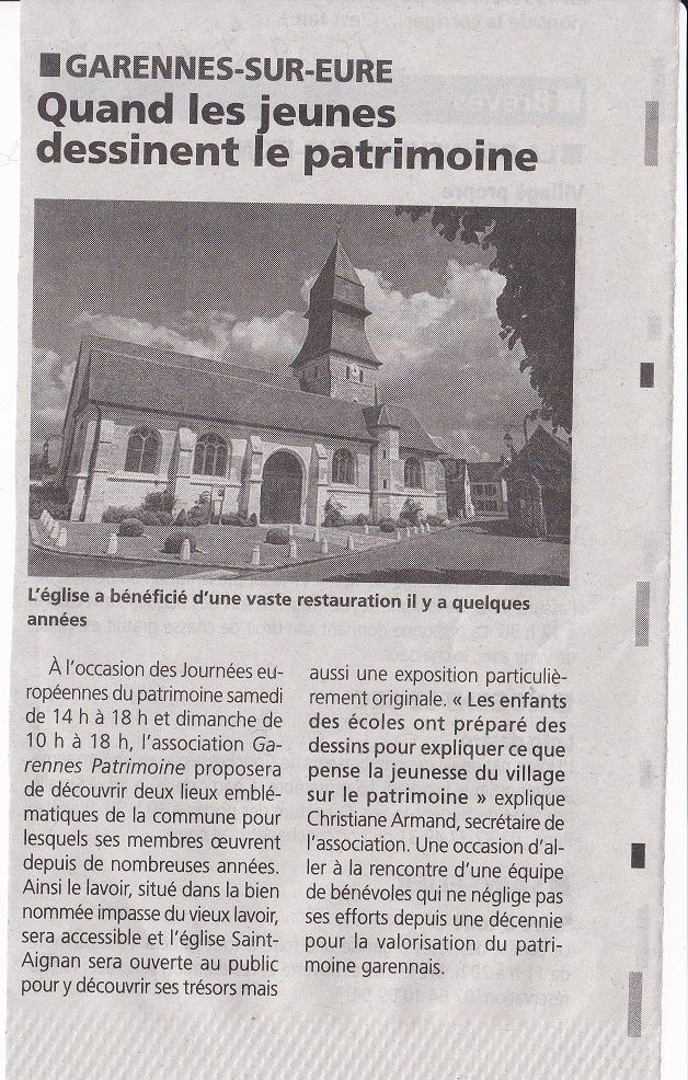 article du journal a Dépêche du 14 septembre 2017
