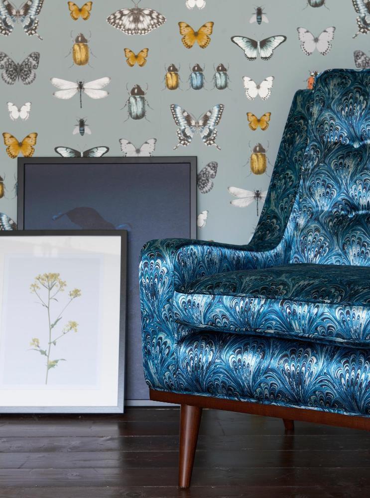 Botanica de Clarke&Clarke, tissus et papiers peints coordonnés.