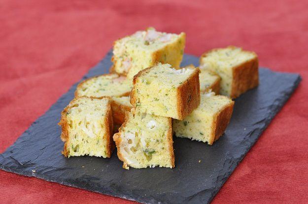 Cake salé courgette fromage de chèvre