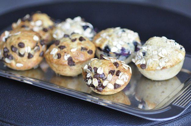 Petits muffins tous légers aux flocons d'avoine