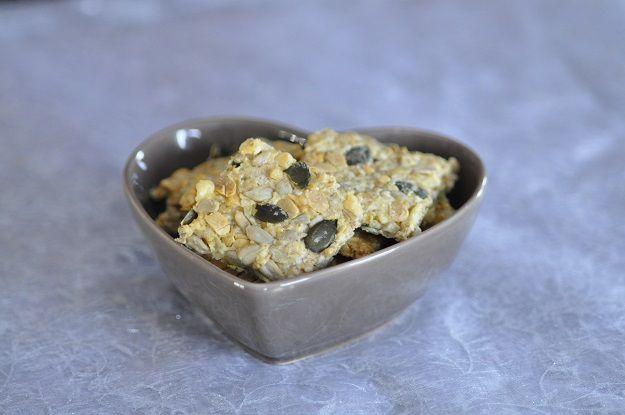 Crackers aux graines et flocons d'avoine