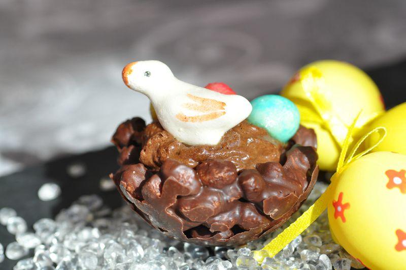 nids croustillants chocolat