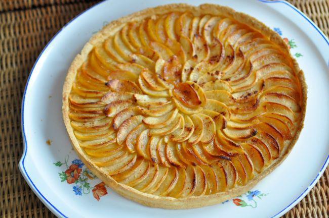 La tarte aux pommes rôties de mini miss chocolat