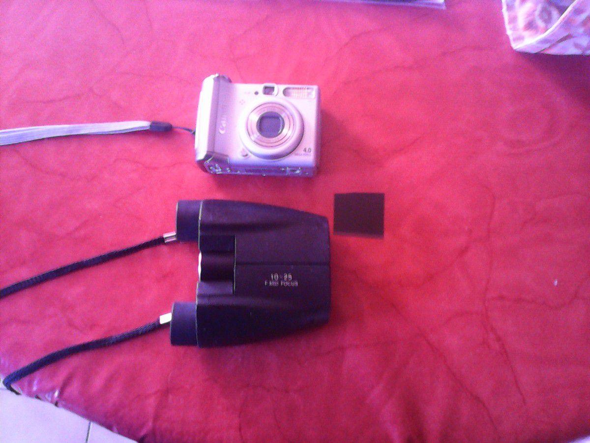 Canon A520 (4 mégapixels) une paire de jumelle de (10x25) et mon filtre un morceau d'une ancienne radiographie