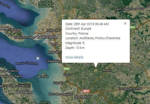 France 3 tremblements de Terre en quelques heures