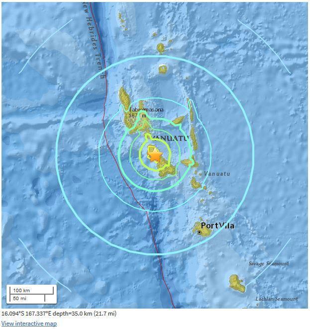 Tremblement de terre M7.0 - 5km WSW of Norsup, Vanuatu