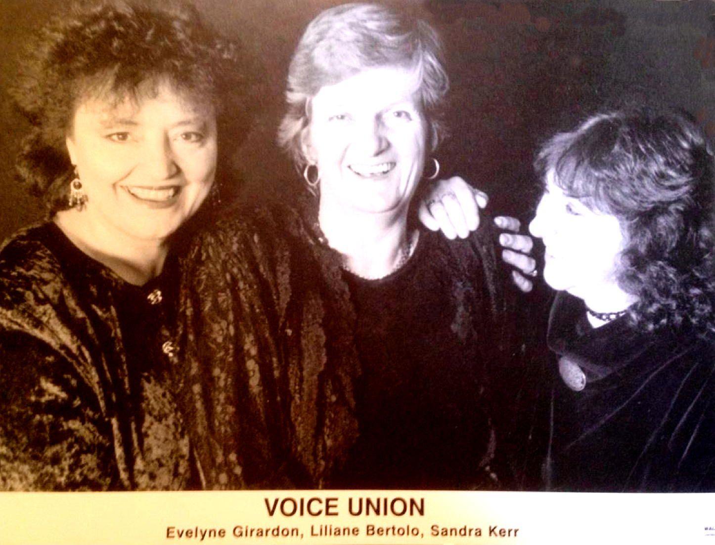 Voice Union (Photo : Collection privée)