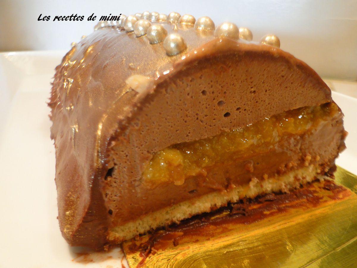 Buche noel chocolat orange thermomix