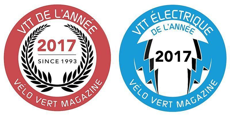 """Résultat du VTT électrique de l'année 2017 de VELO VERT """" Lapierre Overvolt AM 700+ Carbon"""" ."""