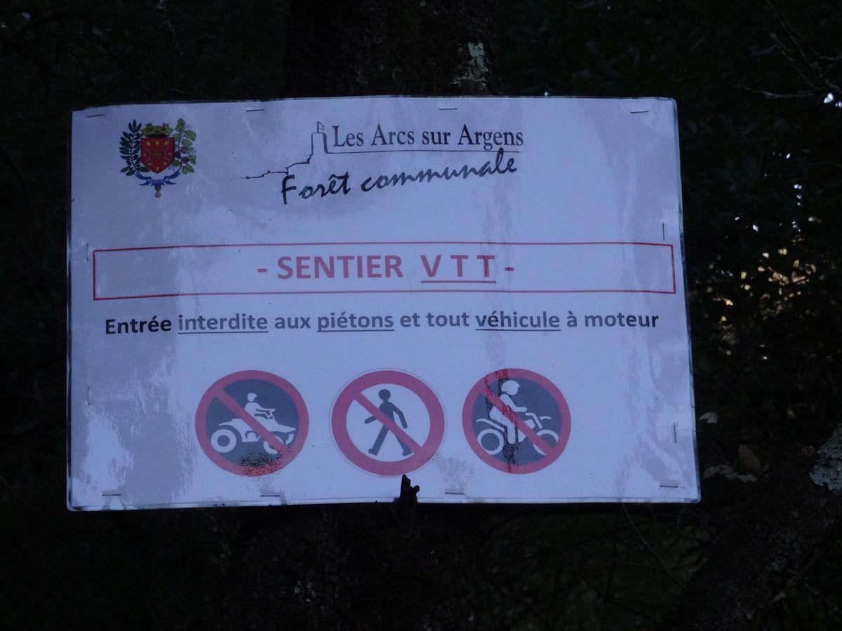 Nouveautés dans la Forêt des Arcs-sur Argens (pour le VTT notamment ) (Var-83)