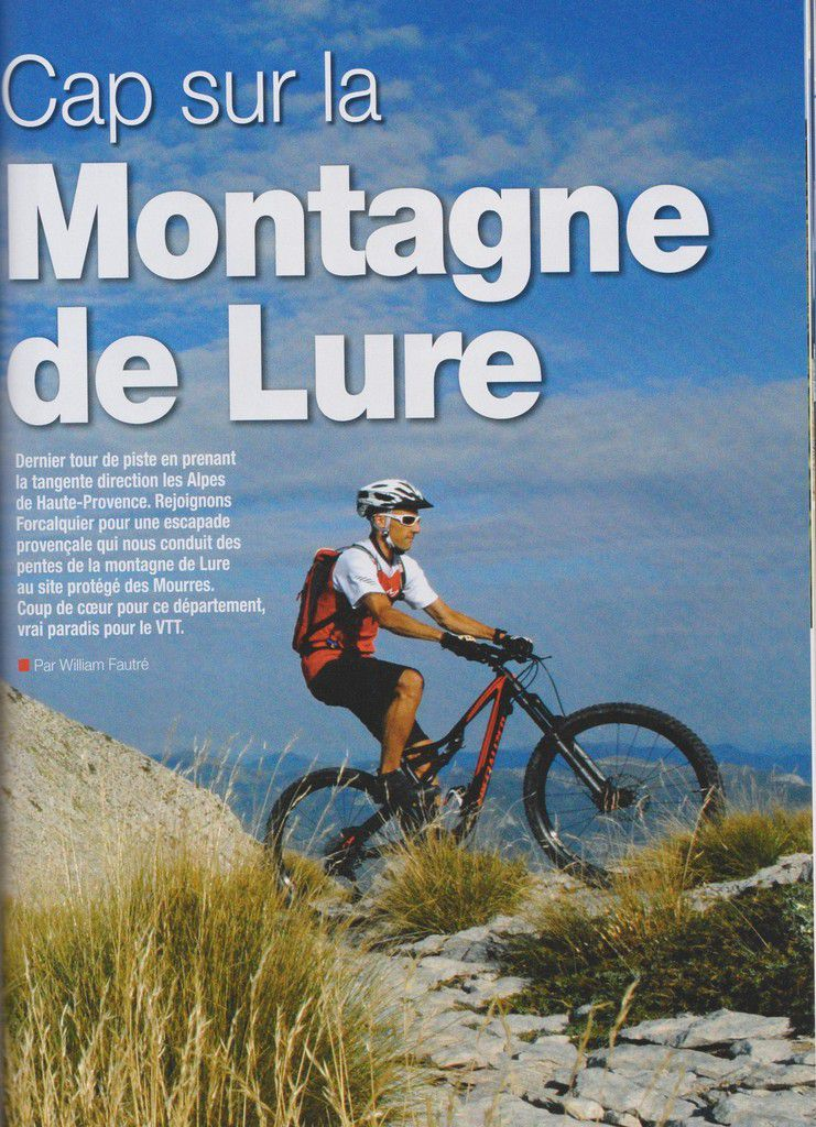 Cap sur la Montagne de la Lure - Forcalquier (04) par VTT Magazine n°332