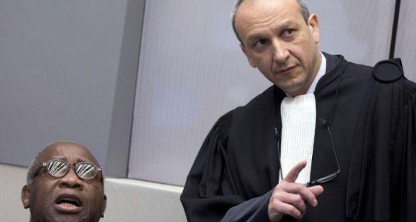Laurent Gbagbo et Me Altit son avocat devant la CPI