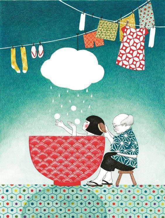 "illustration de Seng soun Ratanavanh tiré de ""Au lit Miyuki"""