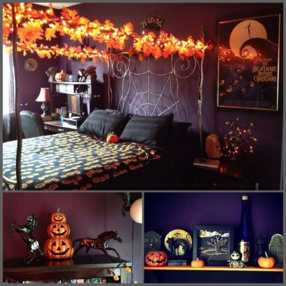 décoration chambre halloween