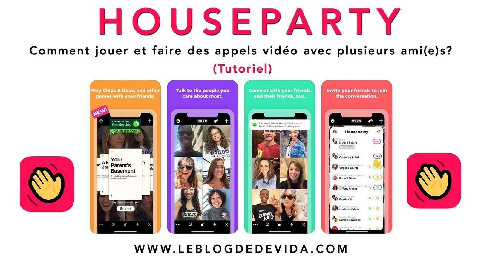 houseparty jeux appels vidéo