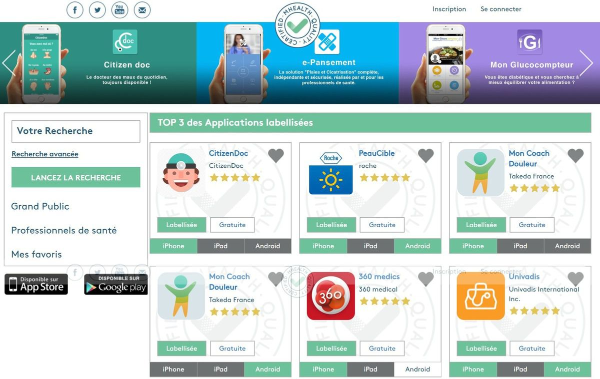 dmdpost le guide des applications santés est enfin là !!!!