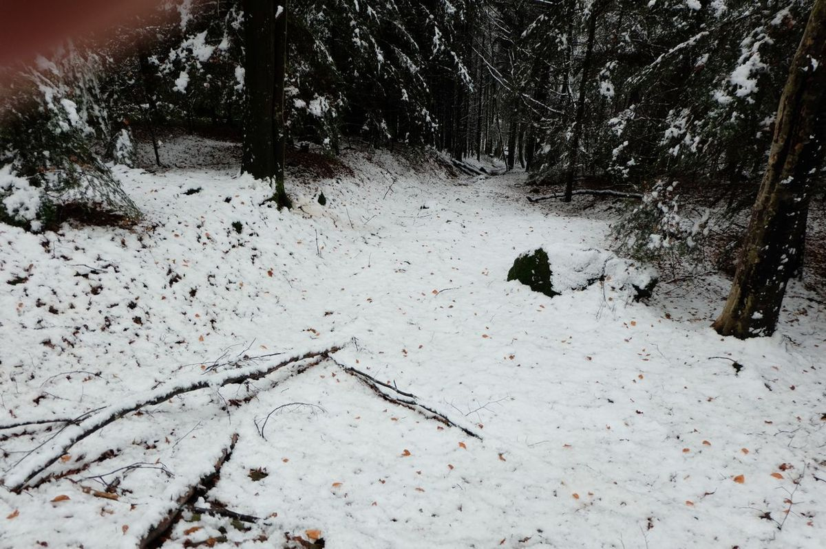 Il neigeait