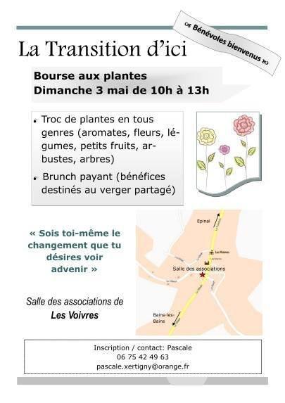 Bourse aux plantes dimanche 3 mai